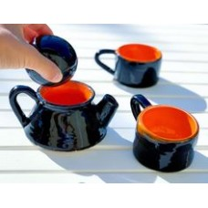 Black Teapot with Orange Cap - DM-19DMRNK006