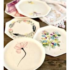 Floral Patterned Paper Plate - TB-19TBCCK075