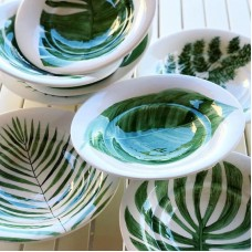 Leaf Patterned Bowl - KS-19KSTRP012