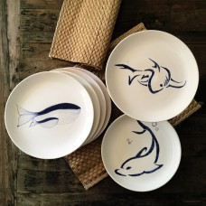 Dolphin Patterned Plate - TB-19TBMRN066-1