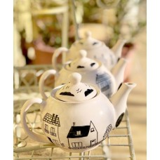 Teapot With House Pattern - DM-19DMSB005