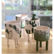 Cactus Patterned Pot - SK-19SKTRP020