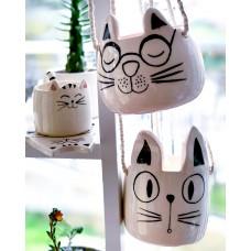 Cat with EyeGlasses Hanging Pot - SK-20SKHYV063