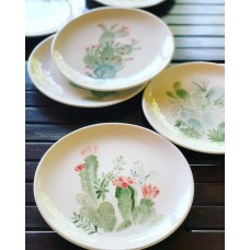 Cactus Patterned Plate - TB-19TBTRP013