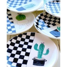 Cactus Patterned Plate - TB-19TBTRP023