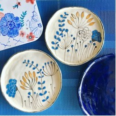 Flower Patterned Plate - TB-19TBCCK031