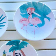 Flamingo Patterned Plate - TB-19TBTRP060